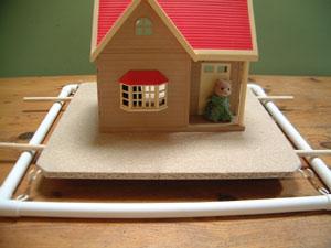 Model earthquake proof house