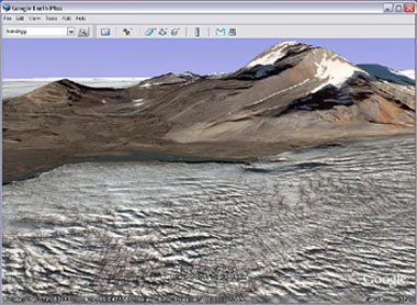 Svalbard in Google Earth